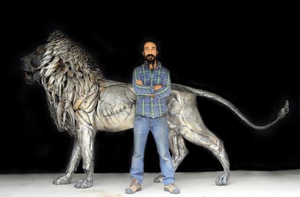Art, Lion, Istanbul, artist, Sculpture, Big Cats , Selçuk Yılmaz