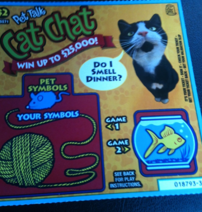 Pet Talk, Cats, Cat Chat, Scratch n Win