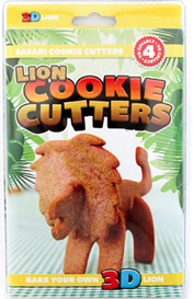 Lion, Cookies, Suck UK, 3D cookie cutter