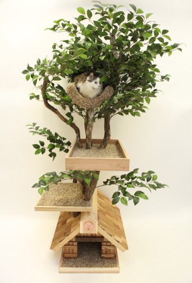 Cats, tree house, cat tower, handmade, trees,