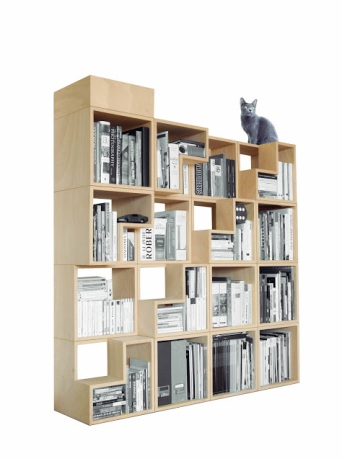 cats, bookshelf, library, cat friendly design, Corentin Dombrecht