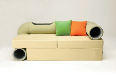 Cats, Cat furniture, Cat sofa tunnel, Korean design, Seungji Mun, home furniture