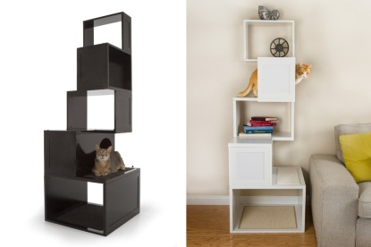 cats, tower, bookshelf, storage unti, animal friendly