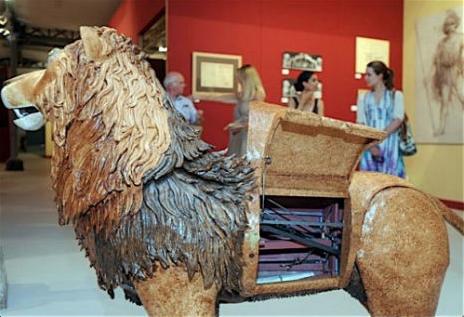 Lions, art, Leonardo Da Vinci, Mechanical Lion, Robot, ahead of his time