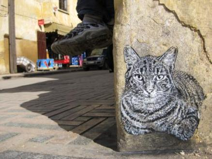 Cats, Graffiti, Art, C215, Felines in art, Mural Art, Modern Art, Street Art, Cats in Art