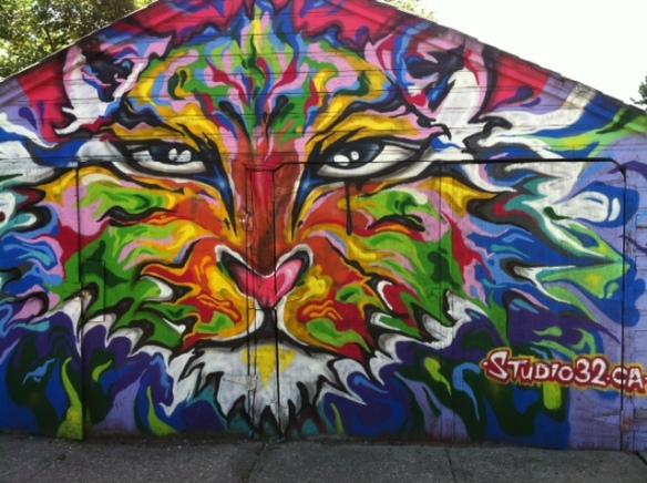 Cats, Graffiti, Studio32.ca, Mural Artist Studio 32, Art, Felines in Art, Moder Art, Street Art, Cats in Art, Tigers