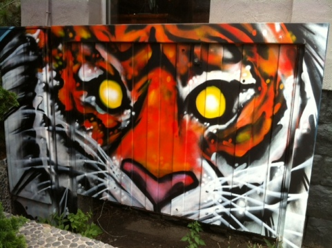 Cats, Graffiti, Art, Felines in Art, Moder Art, Street Art, Cats in Art, Tigers