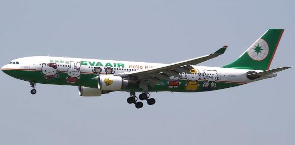 Hello Kitty, Cats, cartoons, Sanrio, Japan, EVA airlines