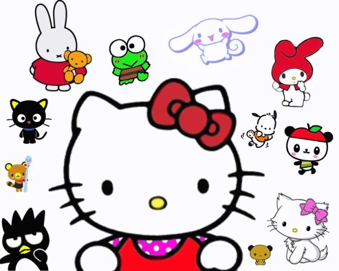 Hello Kitty, Cats, cartoons, Sanrio, Japan, Identity crises, Hello Kitty is a little girl from London, Kitty White, My Melody, KeroKeroKeroppi,Bad Badtz-Maru,Little Twin Stars,Cinnamoroll,Pochacco,