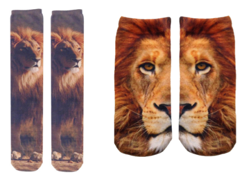 ankle socks, knee socks, cats, kittens, socks, travel, for the feet, photo real prints, photographic images, fashion, feline themed socks, Living Royal Socks, Leopards, Tigers, big cats, roar,Lions