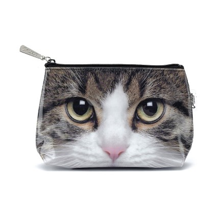 cats, Cats Eye London, tabby cat make up bag, accessories, fashion, tabby Cat, cat themed fashion, travel, make up bag, travel bag