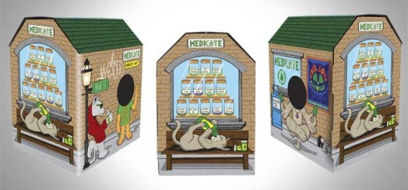 cats, boxes, kittens, cat houses, Meowses, Awesome Cat Houses, Kickstarter, Smokey The Cat, The catnip dispensary