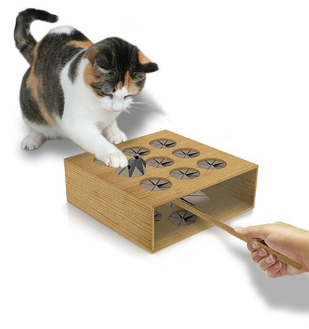 Cats, Toys , Whack a Mole, Playtime, bonding, supervised play time, Think Geek,