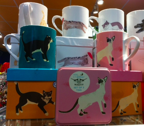 cats, kittens, Magpie Uk, coffe mugs, tins, storage tins, gifts, Outer layer Toronto, Christmans Gifts, holiday gifts, gifts, stocking stuffer's, Magpie UK, Jo Clark illustrations, British design