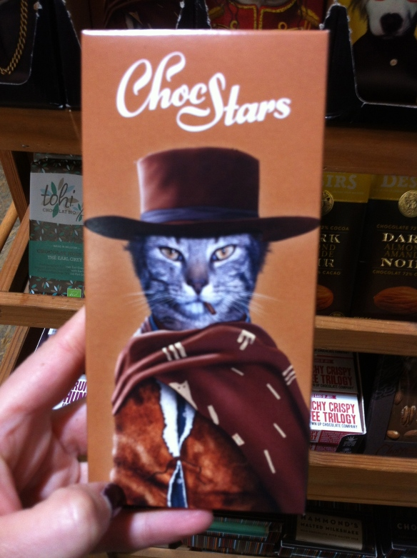 cats, Choco Stars, chocolate bars, chocolate, xmas gifst, christmas gifts, stocking stuffers, unique gifts for cat lovers, Blue Banana Market,