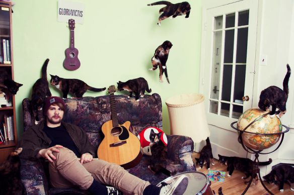 Cat men, Cat Guys Guys Love cats, Real Men love cats, cats, Photography, Andréanne Lupien, Montreal, Quebec, Cat lovers and their cats, black cats, Clone Photography, cat lovers with cats, cat photography,crazy cat lovers , crazy cat ladies, I love cats, Photoshop,