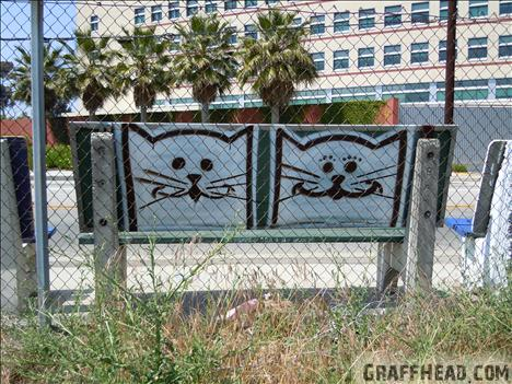 GraffHead.com, Cats The Last Ones?,cats, cats in art, cat graffiti, cat graffiti Los Angeles, cat graffiti on freeway 101, cat graffiti on freeway overpasses, cats art in California, There are cats everywhere, Cat inspired art, Cat tagger Atlas, Rick Ordonez