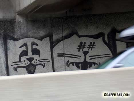 GraffHead.com, Cats The Last Ones?,cats, cats in art, cat graffiti, cat graffiti Los Angeles, cat graffiti on freeway 101, cat graffiti on freeway overpasses, cats art in California, There are cats everywhere, Cat inspired art,