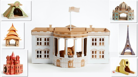 Poopy Cat, Landmarks playhouses for cats, Cats love boxes, cat boxes from around the world, Cat houses, Fun cat houses, unique gifts for cat lovers,