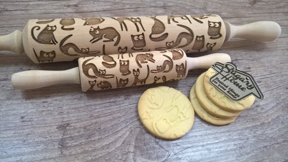 Buy it GIve it, Cats, Christmas gifts, gifts for cat lovers, unique cat themed gifts, Olive & Rye, holiday gifts, big cats, Buy it GIve it, Cats, Christmas gifts, gifts for cat lovers, unique cat themed gifts, Olive & Rye, holiday gifts, rolling pin, cat rolling pin, baking tools