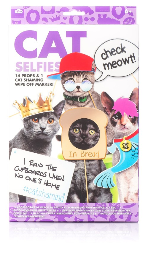 Buy it GIve it, Cats, Christmas gifts, gifts for cat lovers, unique cat themed gifts, Olive & Rye, holiday gifts, Cat Selfies, Selfies, NPW Cat Selfies
