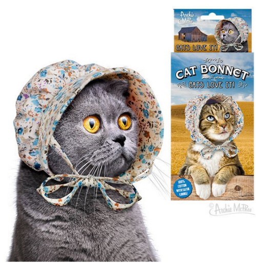 Buy it GIve it, Cats, Christmas gifts, gifts for cat lovers, unique cat themed gifts, holiday gifts, Tote Bags, Accessories,Hats for cats, Cat bonnet, Archie McPhee