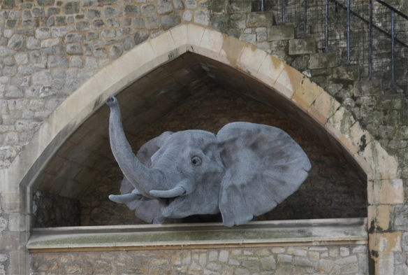 Elephant, Kendra Haste, Sculpture, Lions, zoos, captivity, Tower of London, Cats in art, Lion Sculptures, Wildlife in captivity, babary lions, extinct cats, ancient wildlife trade, big cats,