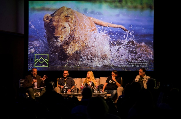 Carole Baskin, Ian Michler, Will Travers,Brent Stapelkamp, Cecil the lion, Born Free, Blood Lions, Big Cat Rescue,Jackson Hole, Wildlife Film Festival, Conservation Summit, Big Cats, Wild Cats, Jackson Lake Lodge, Grand Teton National Park