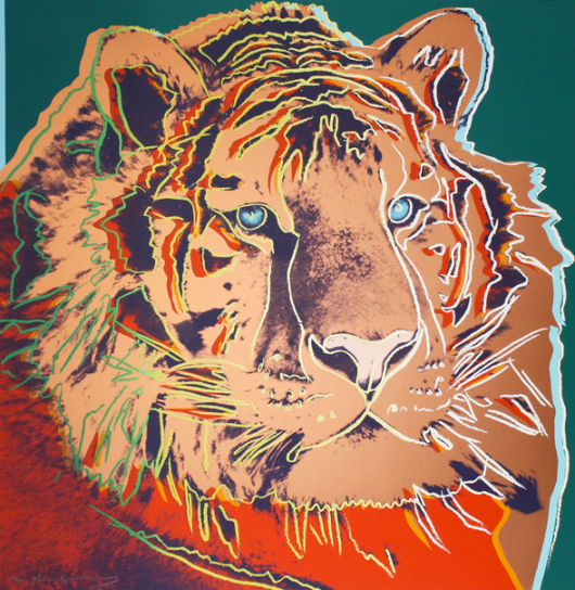 Andy Wharhol, The National Museum of Wildlife Art, cats in art, siberian tiger, wildlife, paintings, wildlife art, Jackson Wyoming, travel, big cats, endangered species