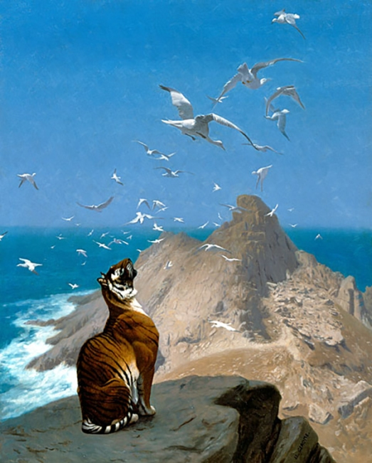 The National Museum of Wildlife Art, Jean-Léon Gérôme, cats in art, tiger, wildlife, paintings, wildlife art, Jackson Wyoming, travel, big cats