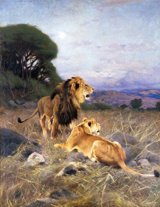 The National Museum of Wildlife Art, lions, paintings, cats in art, wildlife, Wilhelm Kuhnert, wildlife art, Jackson Wyoming, travel, big cats