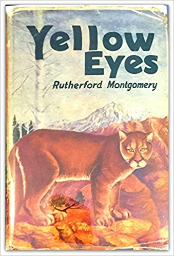 Yellow Eyes, Rutherford G. Montgomery, mountain lions, classic books, rare books, kids books, wildlife books, pumas, cougars, works of fiction,